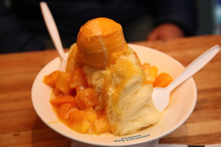 マンゴーかき氷
